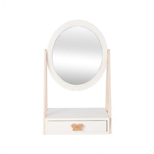 Oglinda fetitelor, din lemn, cu sertar, +3 ani, byASTRUP
