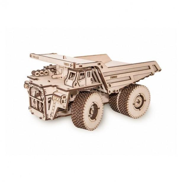 Set constructie cu mecanism Puzzle 3D BELAZ 75600 din lemn 307 piese @ EWA