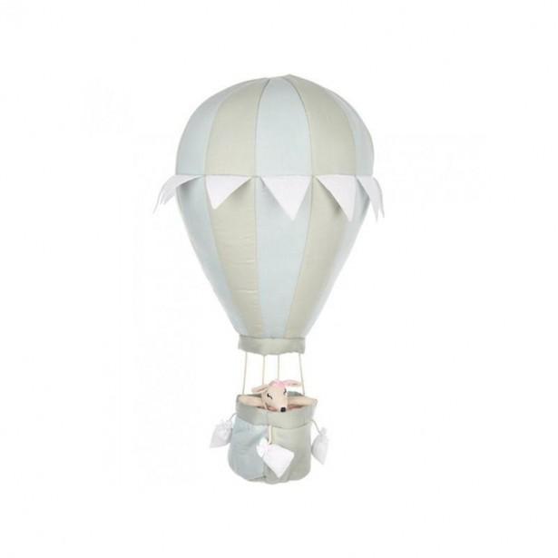 Balon decorativ din bumbac cu aer cald, verde menta, 24x50cm, byASTRUP