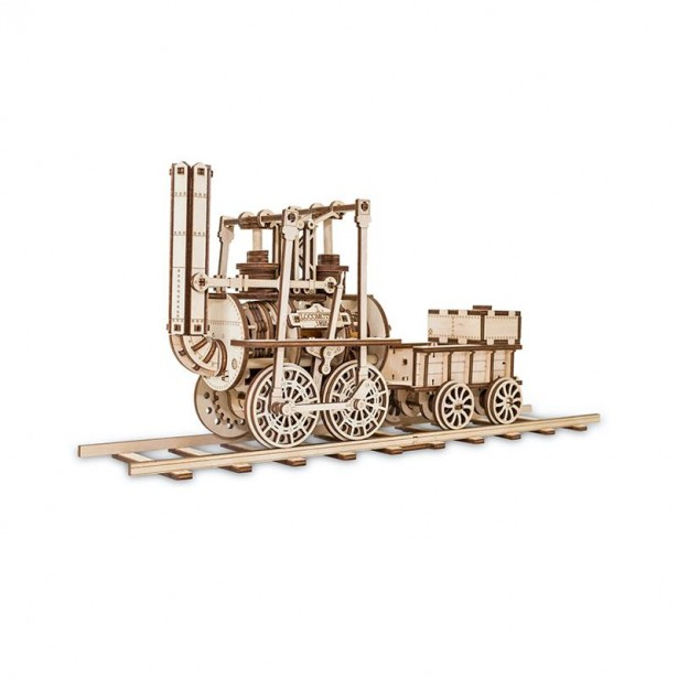Set constructie cu mecanism Puzzle 3D LOCOMOTION din lemn 325 piese @ EWA