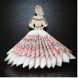 Suport decorativ pentru servetele BELARUSIAN GIRL din lemn 3 piese @ EWA