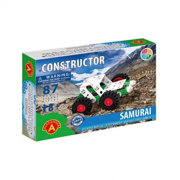 Set constructie 87 piese metalice Constructor-Samurai Offi Road, +8 ani Alexander