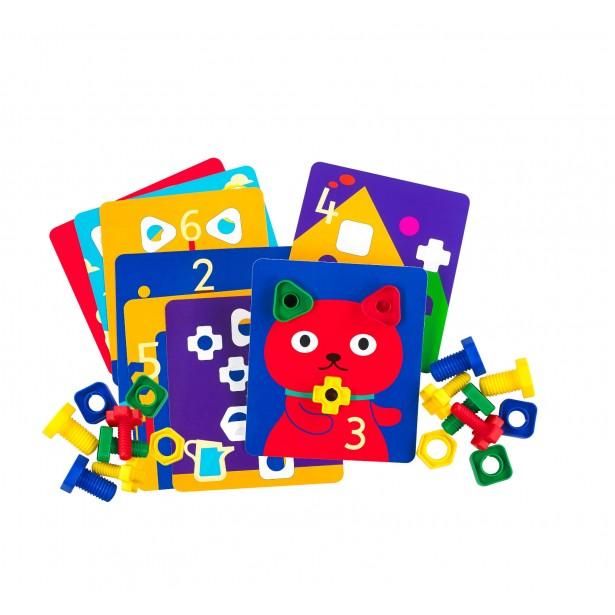 Carti de activitate pentru jocul surub si piulita Edx Education