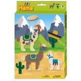 Alpaca - 2000 margele HAMA MIDI cu 1 planseta in cutie cu agatator
