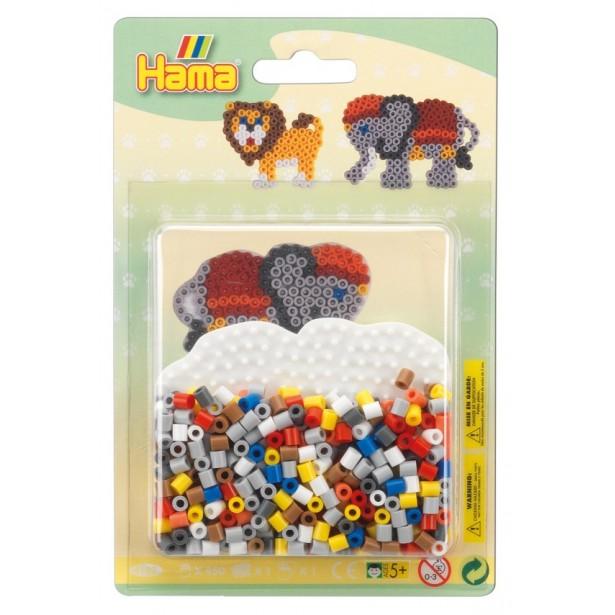 Elefantul - 450 Margele de calcat Hama Midi si 1 planseta in blister
