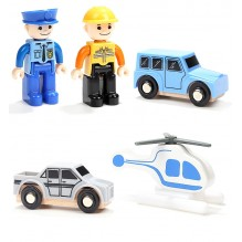 Garaj supraetajat cu 2 figurine si 3 vehicule