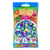 1000 margele HAMA MIDI Mix69 - 11 culori in pungulita