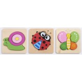 Set de 3 puzzle lemn INSECTE Commotion