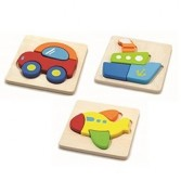 Set de 3 puzzle lemn MIJLOACE DE TRANSPORT Commotion
