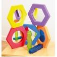 Set de 5 oglinzi hexagonale cu rama de spuma