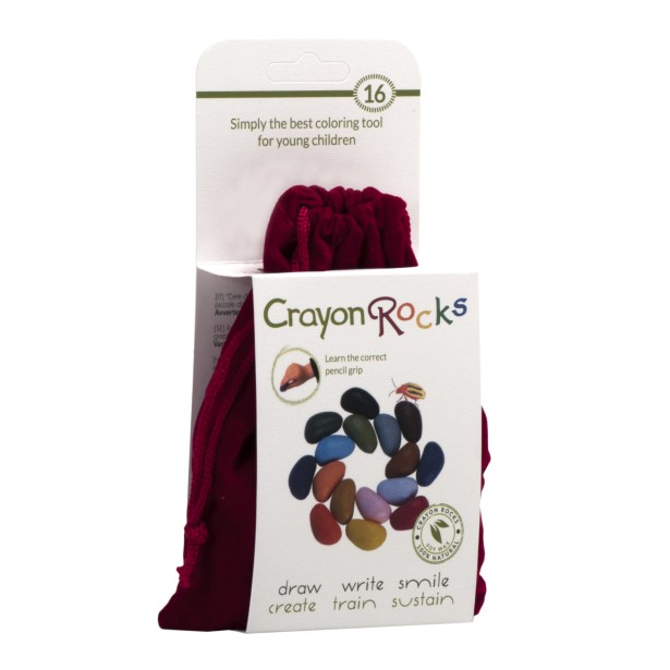 Jucarii educative Crayon Rocks - Set creioane de colorat 16 culori