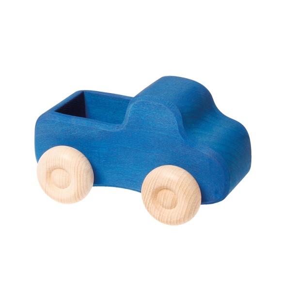 Camion din lemn cu portbagaj – albastru Grimm's