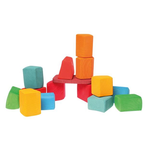 Joc de construit - blocuri formele neregulate ale naturii GRIMM'S - tip Waldorf