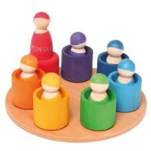 7 prieteni si casutele lor colorate - Jucarii educative Waldorf - GRIMM'S