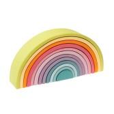 Set creativ de 12 piese in forma de semicerc si culori pastel GRIMM'S