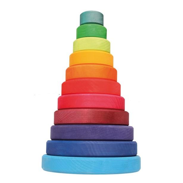 Turn 11 piese de lemn colorate in culorile curcubeului GRIMM'S