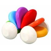 Masinuta colorata din lemn Plan Toys
