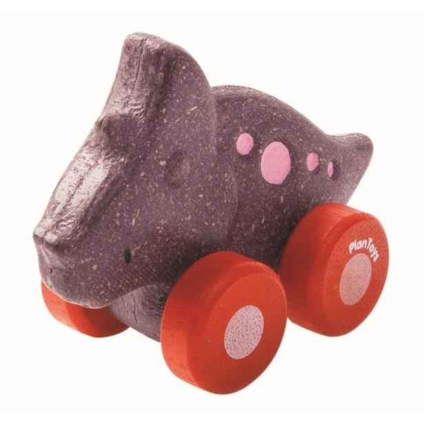 Masinuta dinozaur, culoare mov Plan Toys