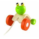 Jucarie de tras in forma de broscuta Plan Toys