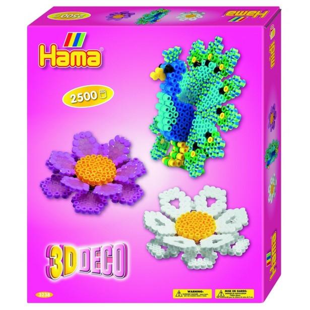 3D DECO - 2500 margele HAMA MIDI in cutie