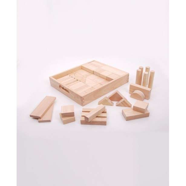 Cuburi de lemn JUMBO natur