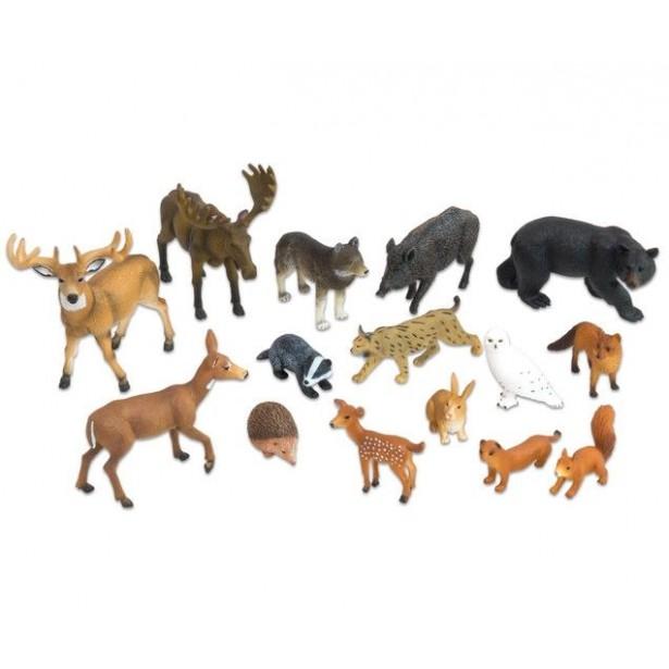 Animale salbatice realistice din Europa - 15 piese