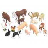 Animale de ferma realistice - 15 piese