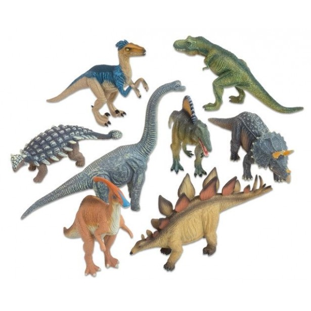 Animale realistice - dinozauri Deluxe - 8 piese