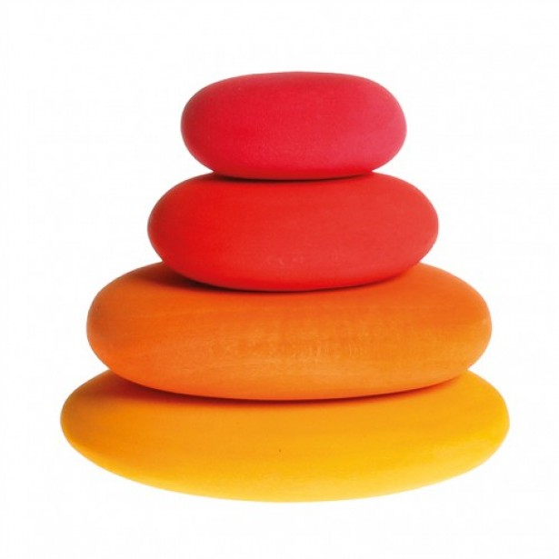 Forme in echilibru, oval, nuante de rosu GRIMM'S
