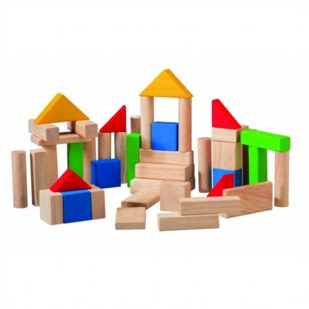 Set de construit din lemn cu 50 de piese