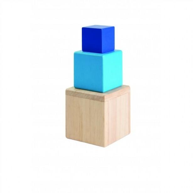 Joc tip Montessori cu Cutii Plan Toys