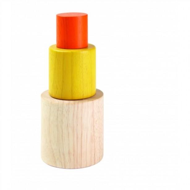 Joc tip Montessori cu Cilindrii Plan Toys